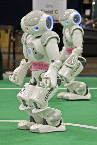 Humanoid Robots Playing Soccer