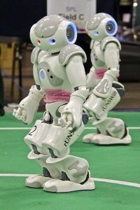 Humanoid Robots Playing Soccer
